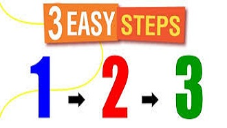 three easy steps. 1,2,3